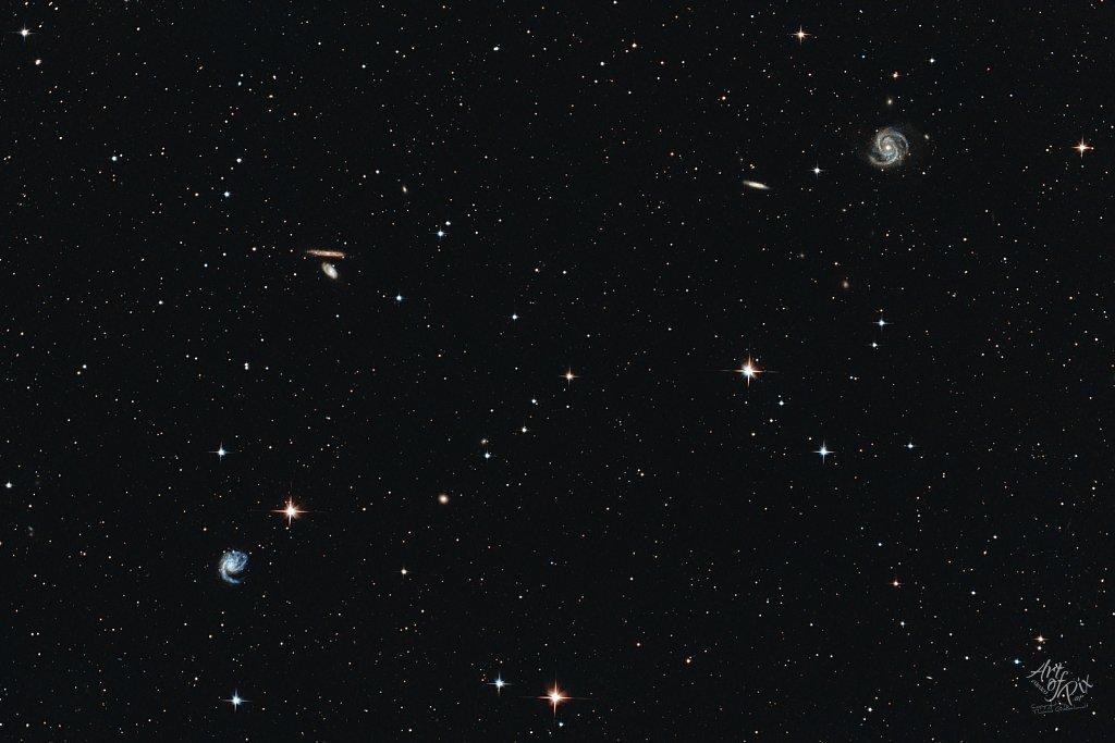 """""""Haarf?hn & Virgohaufen Feuerrad Galaxien"""""""