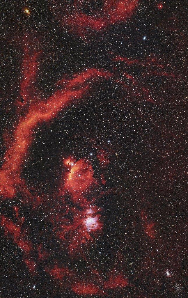 """""""85mm Widefield Orion Region""""- Das Sternzeichen Orion, G?rtels"""