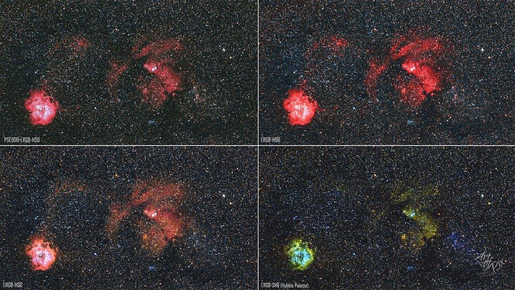 """""""85mm Widefield - NGC2244 Rosennebel""""- Das Sternzeichen Einhorn"""