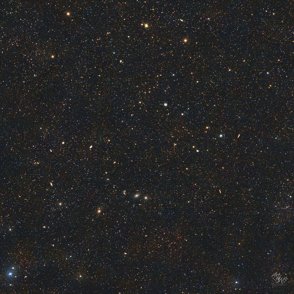 """200mm Widefield Panoramav - Virgo Region""- Im Sternbild Jungfr"